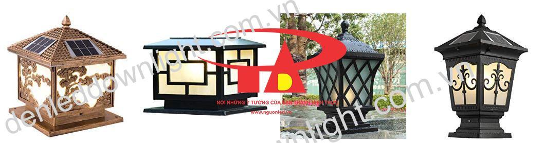 đèn trụ cổng năng lượng mặt trời thiết kế đẹp, chất lượng cao