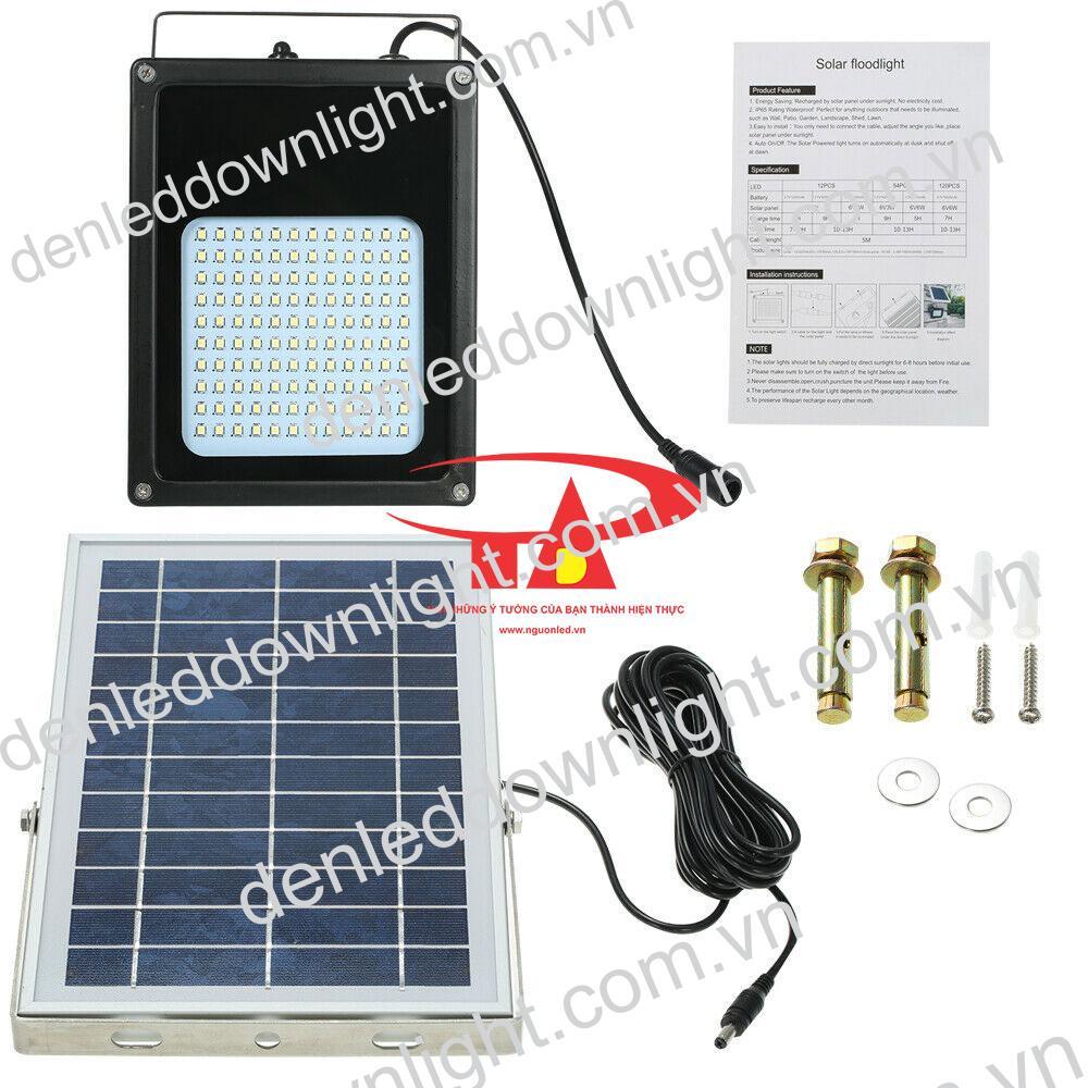 đèn pha năng lượng mặt trời 120 LED loại tốt, chất lượng cao