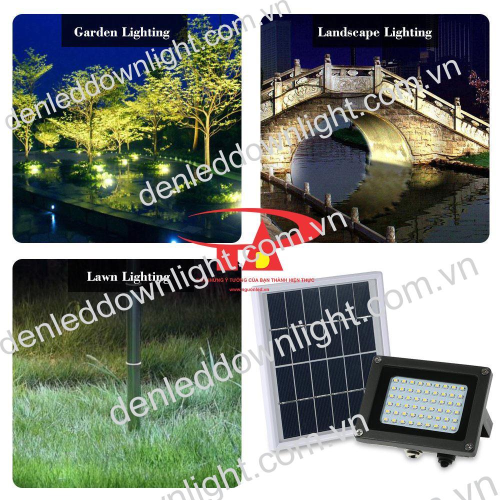 đèn pha năng lượng mặt trời 120 LED chiếu sáng lối đi