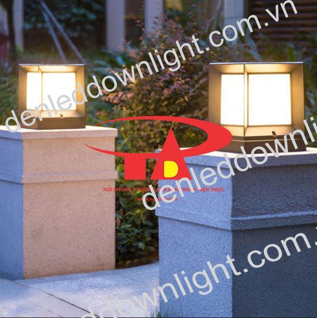 đèn trụ cổng năng lượng mặt trời GDL01 chiếu sáng sân vườn