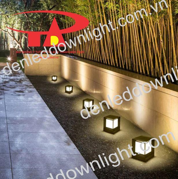 đèn trụ cổng năng lượng mặt trời GDL01 trang trí lối đi