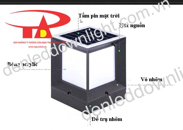 đèn trụ cổng năng lượng mặt trời GDL01 giá rẻ, chất lượng cao