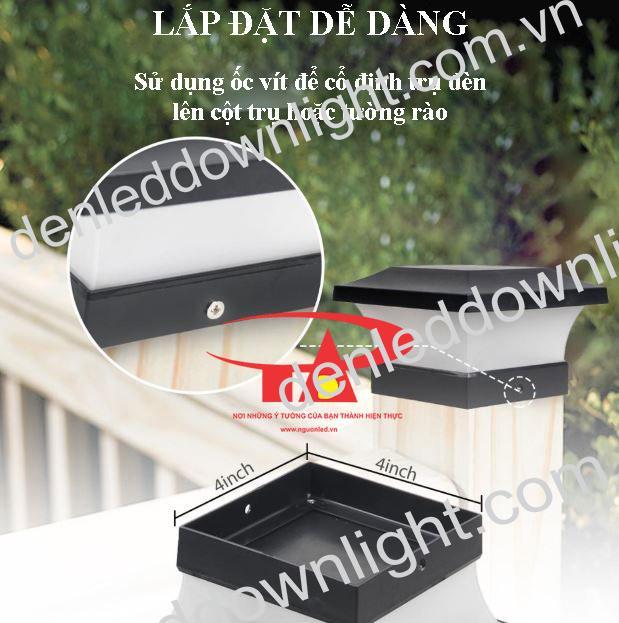 ưu điểm đèn trụ cổng năng lượng mặt trời GDL02 giá rẻ