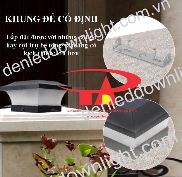 ưu điểm đèn trụ cổng năng lượng mặt trời GDL02 giá rẻ, loại tốt