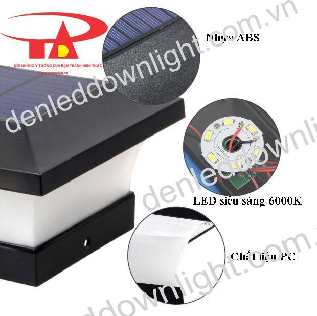 đèn trụ cổng năng lượng mặt trời GDL02 giá rẻ, siêu sáng