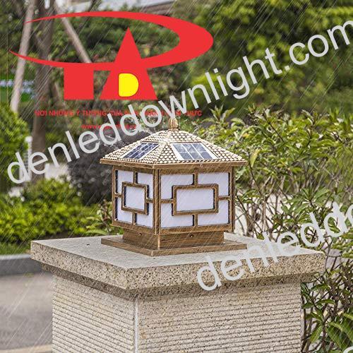 đèn trụ cổng năng lượng mặt trời GDL03 trang trí sân vườn