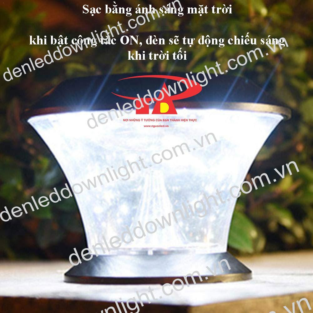 đèn trụ cổng năng lượng mặt trời GDL06 loại tốt, chống thấm nước