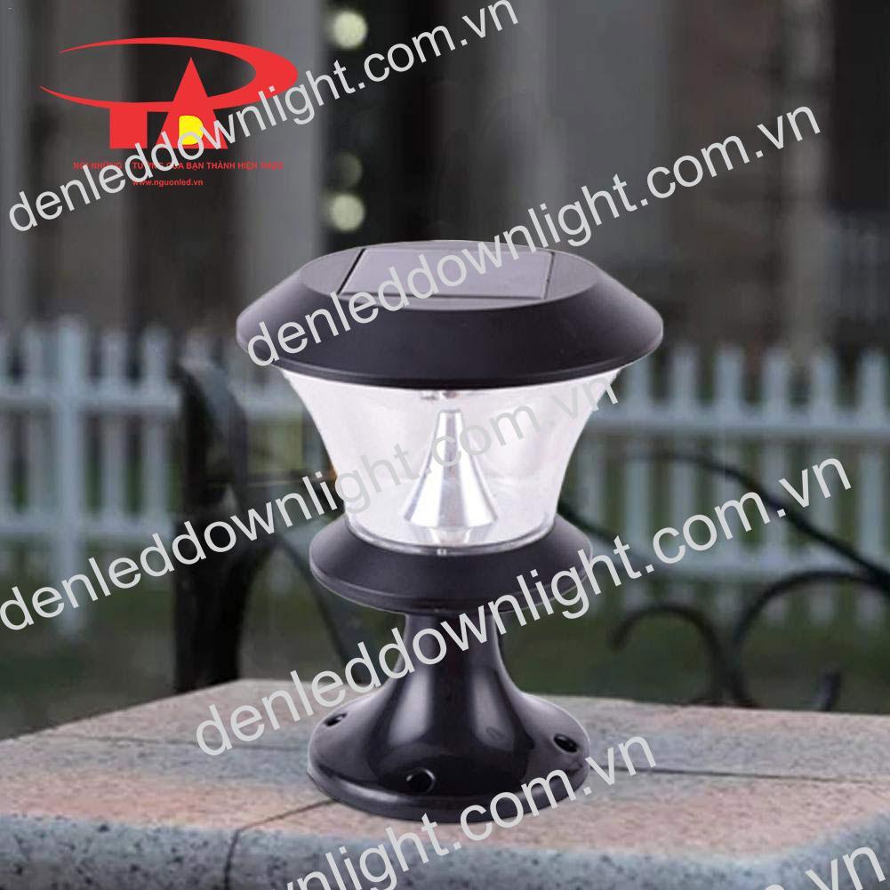 đèn trụ cổng năng lượng mặt trời GDL06 trang trí mặt tiền biệt thự