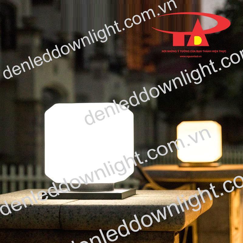đèn trụ cổng năng lượng mặt trời GDL10 trang trí bậc tam cấp