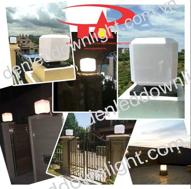 đèn trụ cổng năng lượng mặt trời GDL10 trang trí cổng rào