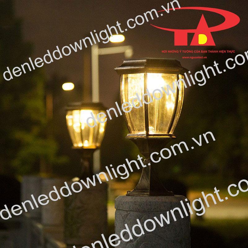 đèn trụ cổng năng lượng mặt trời GDL13 chiếu sáng cổng rào