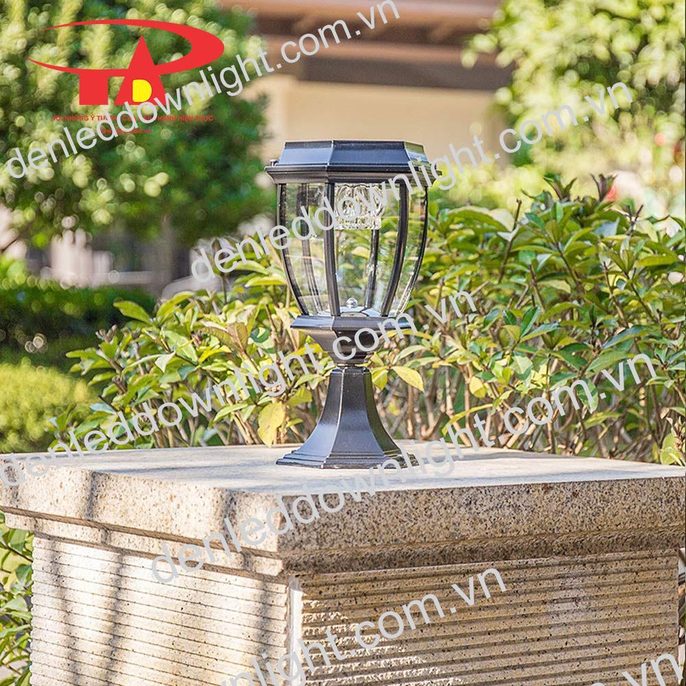 đèn trụ cổng năng lượng mặt trời GDL13 chiếu sáng khuôn viên